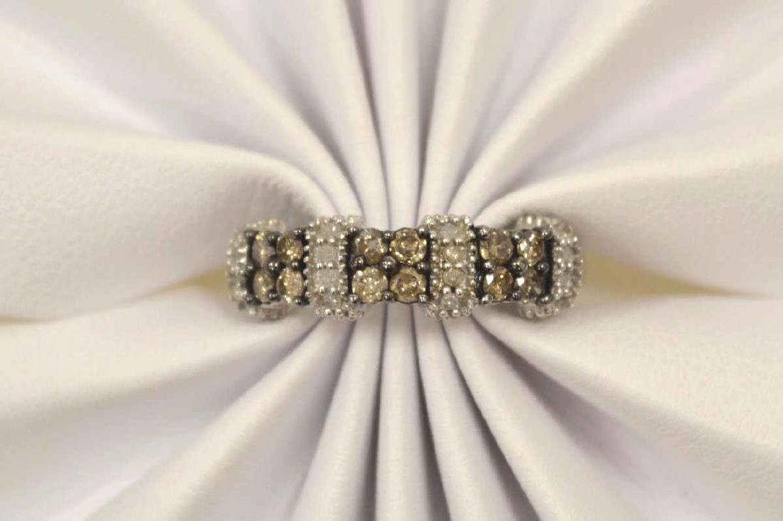 10kt white gold diamond fashion band - 5