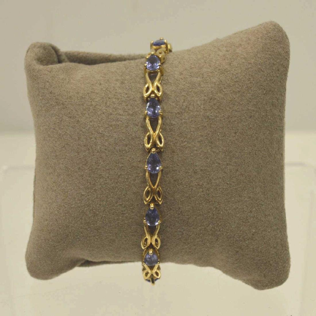 14kt yellow gold tanzanite bracelet
