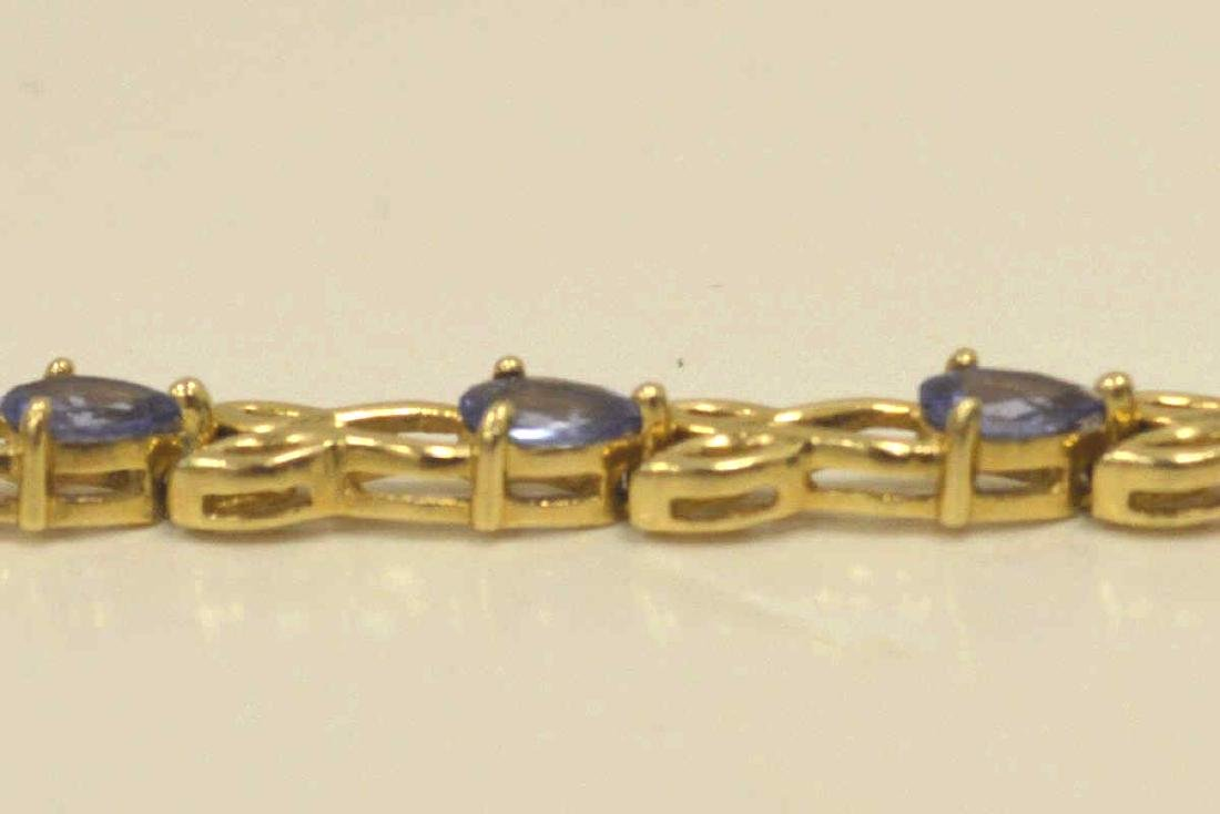 14kt yellow gold tanzanite bracelet - 4
