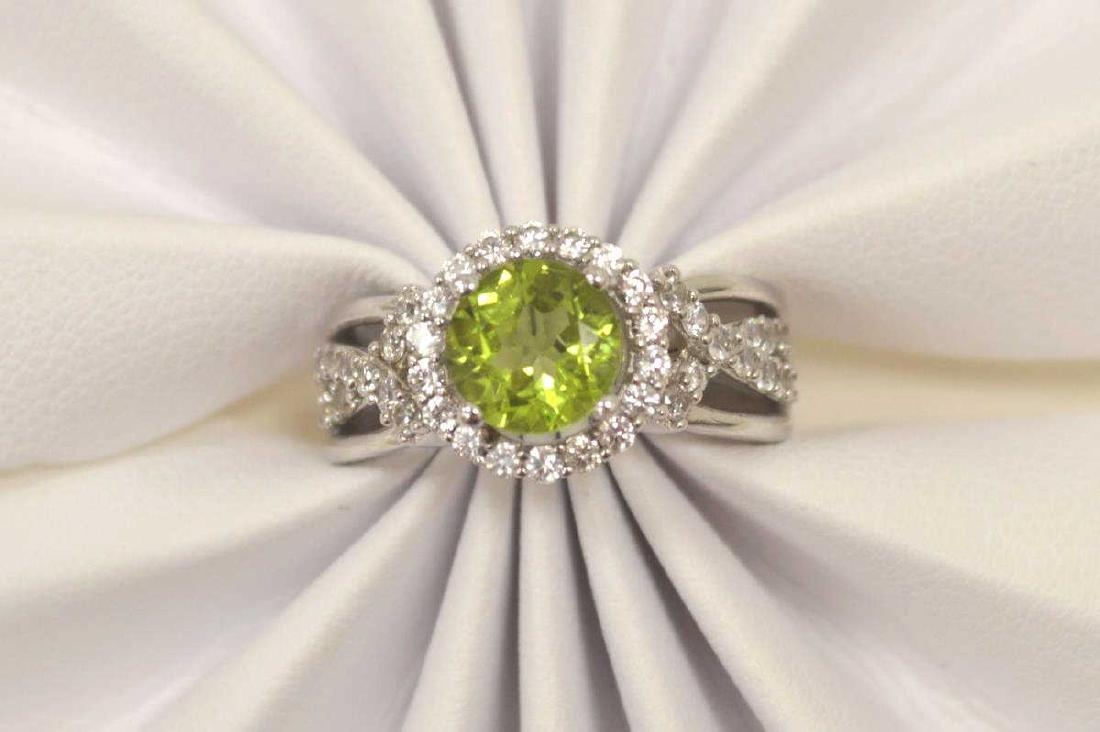 Sterling Silver Peridot Fashion ring - 5