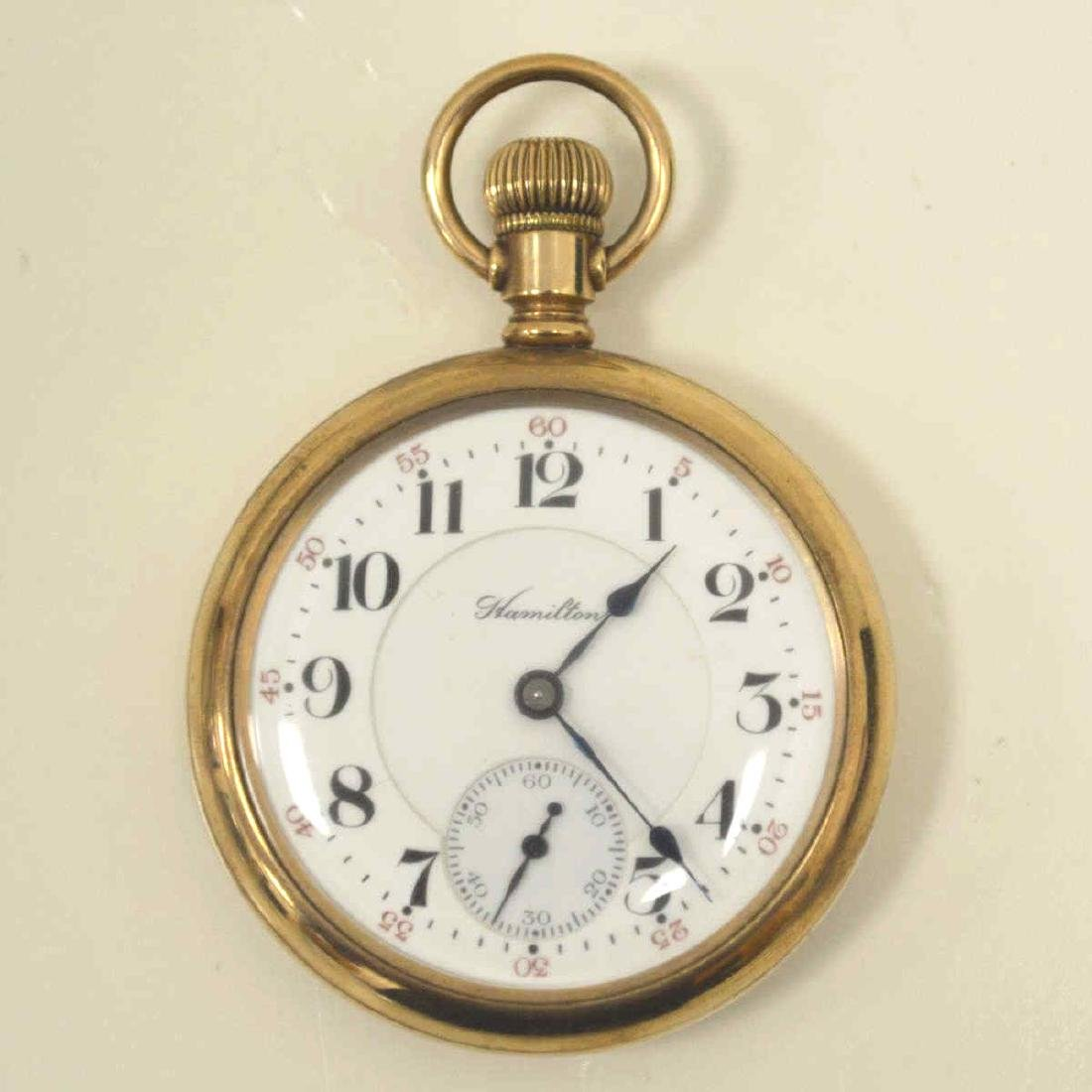 Lot of gold plated pocket watches - 5