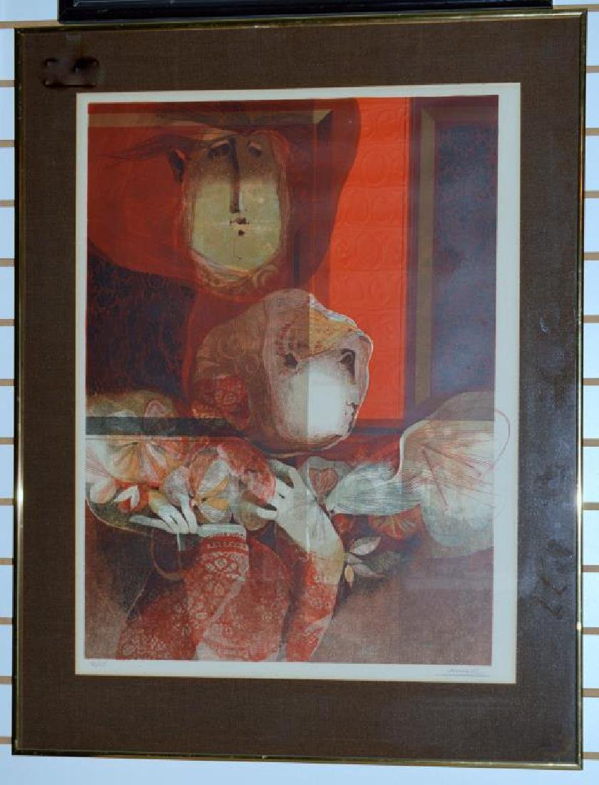 Abstract Lithograph By Alvar Sunol Munoz-Ramos