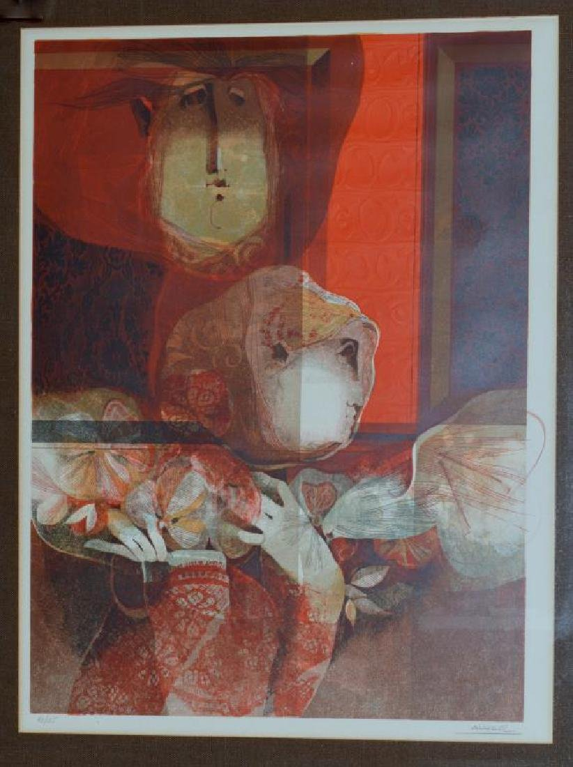 Abstract Lithograph By Alvar Sunol Munoz-Ramos - 2