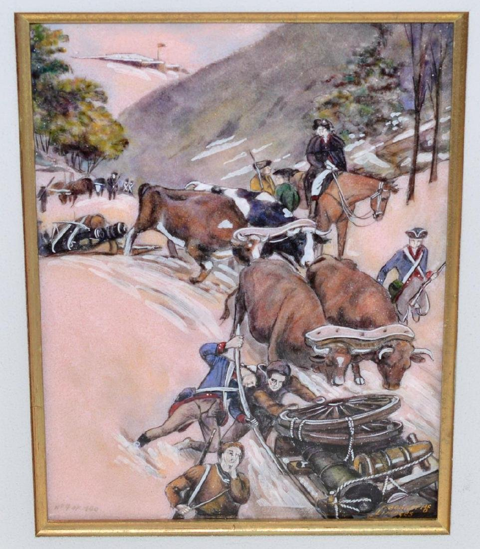 Pierre Bonnet Enamel Over Copper Fort Ticonderoga - 2