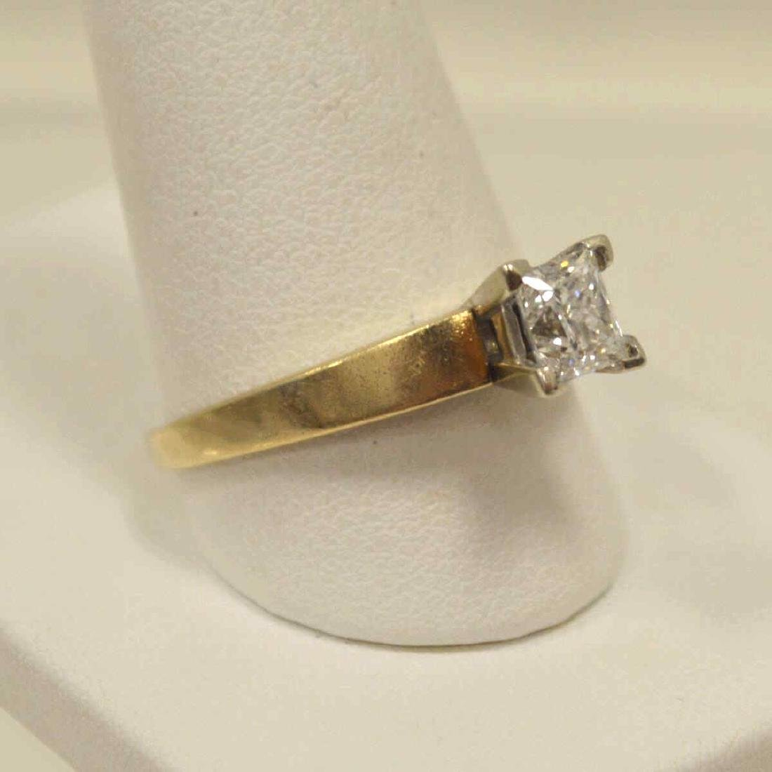 14kt yellow gold diamond engagement ring - 2