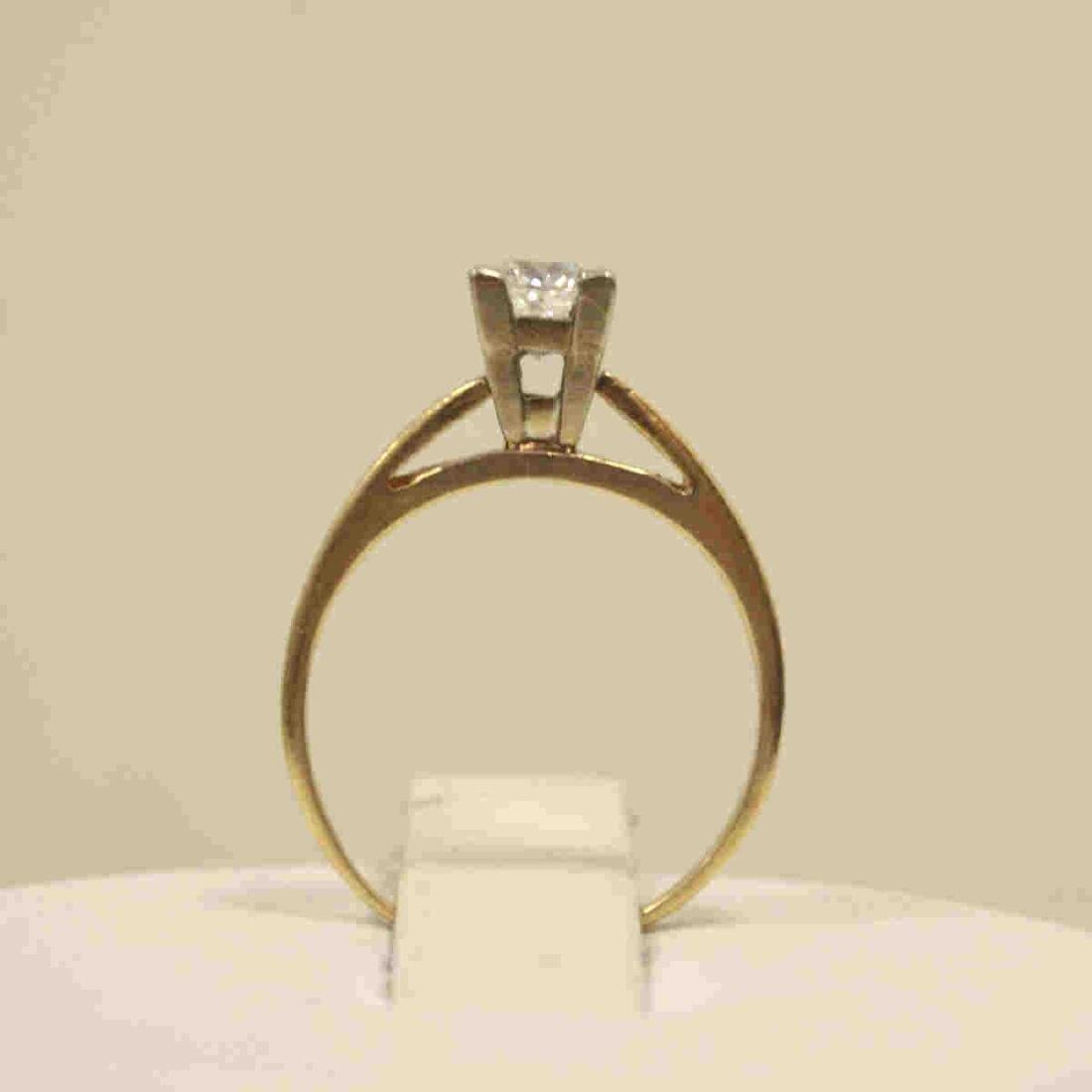 14kt yellow gold diamond engagement ring - 3