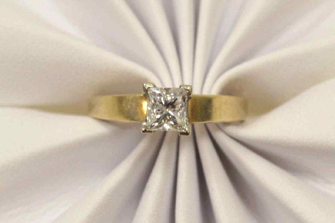 14kt yellow gold diamond engagement ring - 5