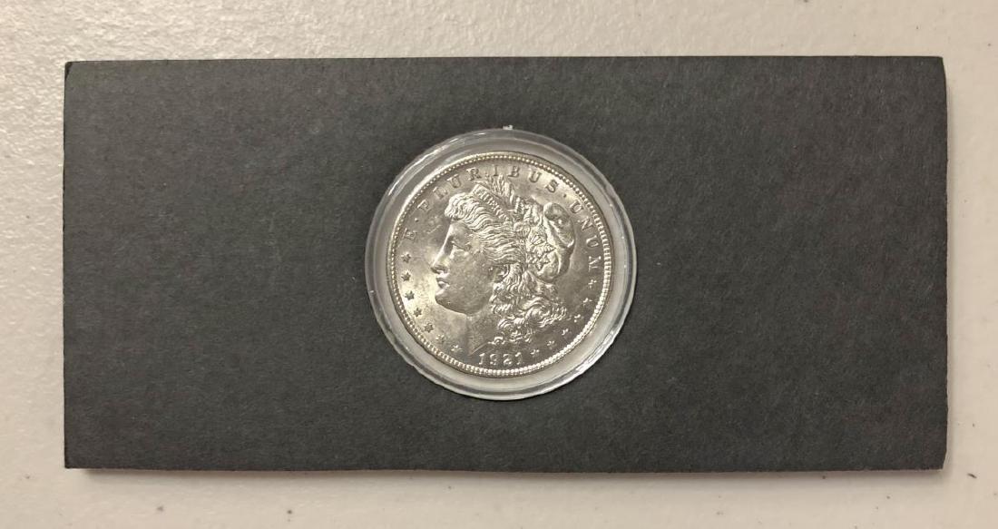 Uncirculated Genuine 1921 Morgan Silver $1 - 2