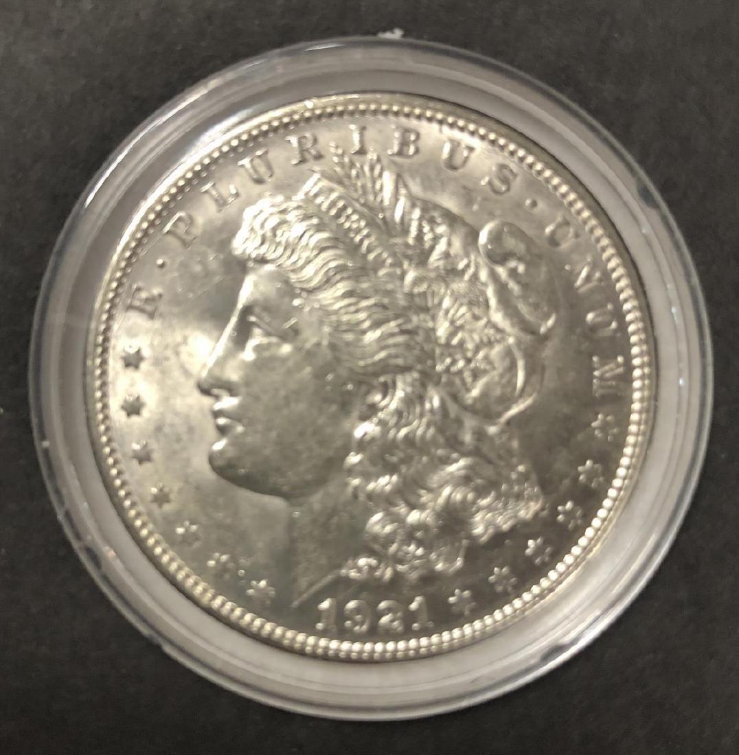 Uncirculated Genuine 1921 Morgan Silver $1 - 3