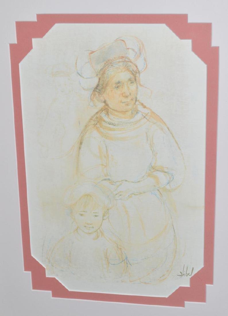 Framed & Signed Edna Hibel Print - 2