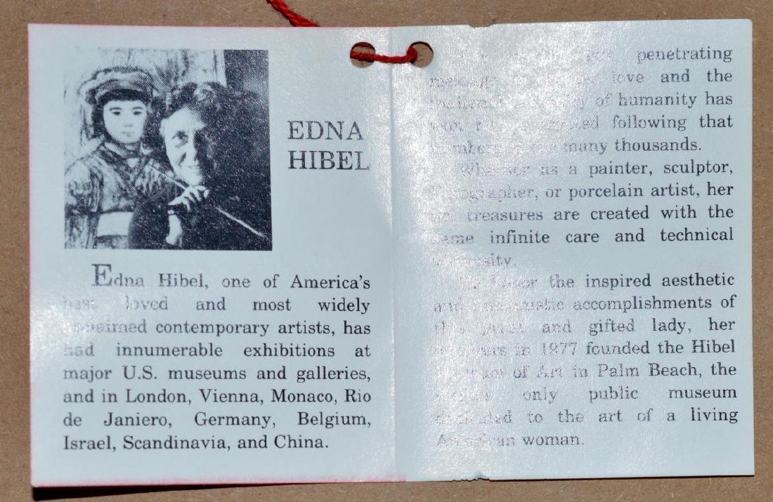 Framed & Signed Edna Hibel Print - 5