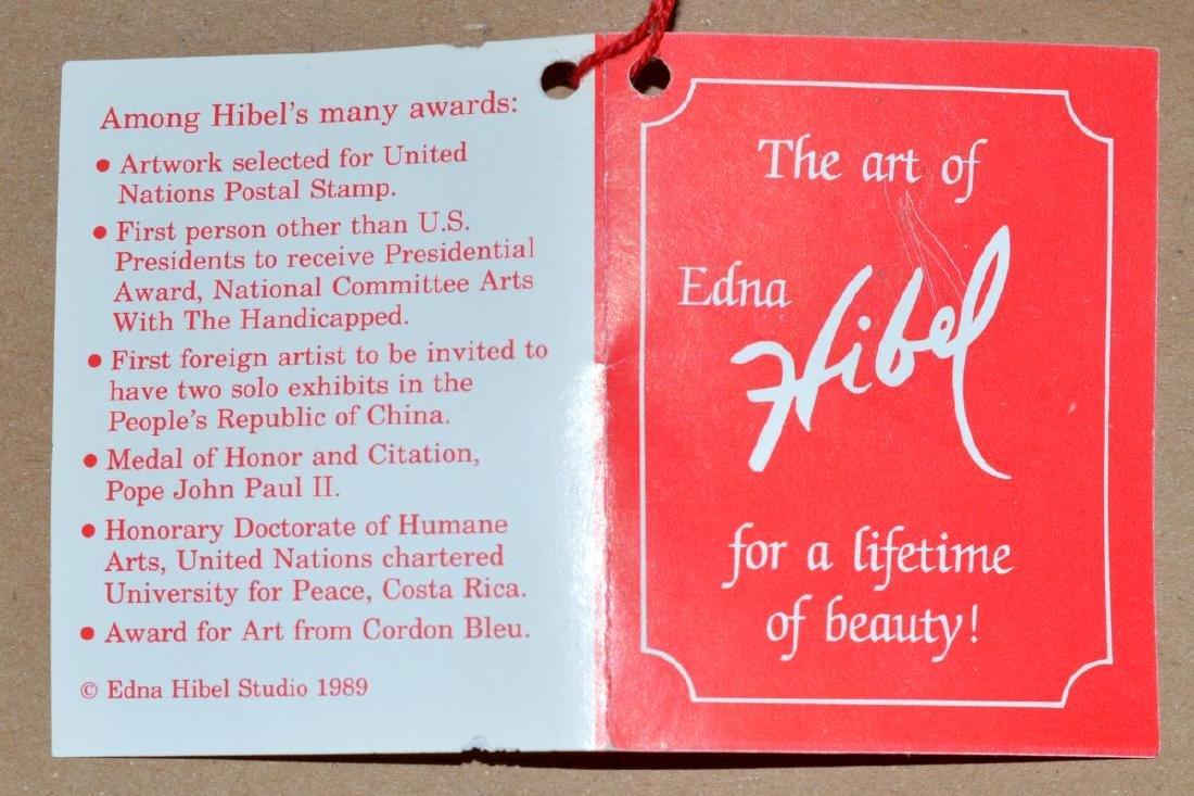 Framed & Signed Edna Hibel Print - 6