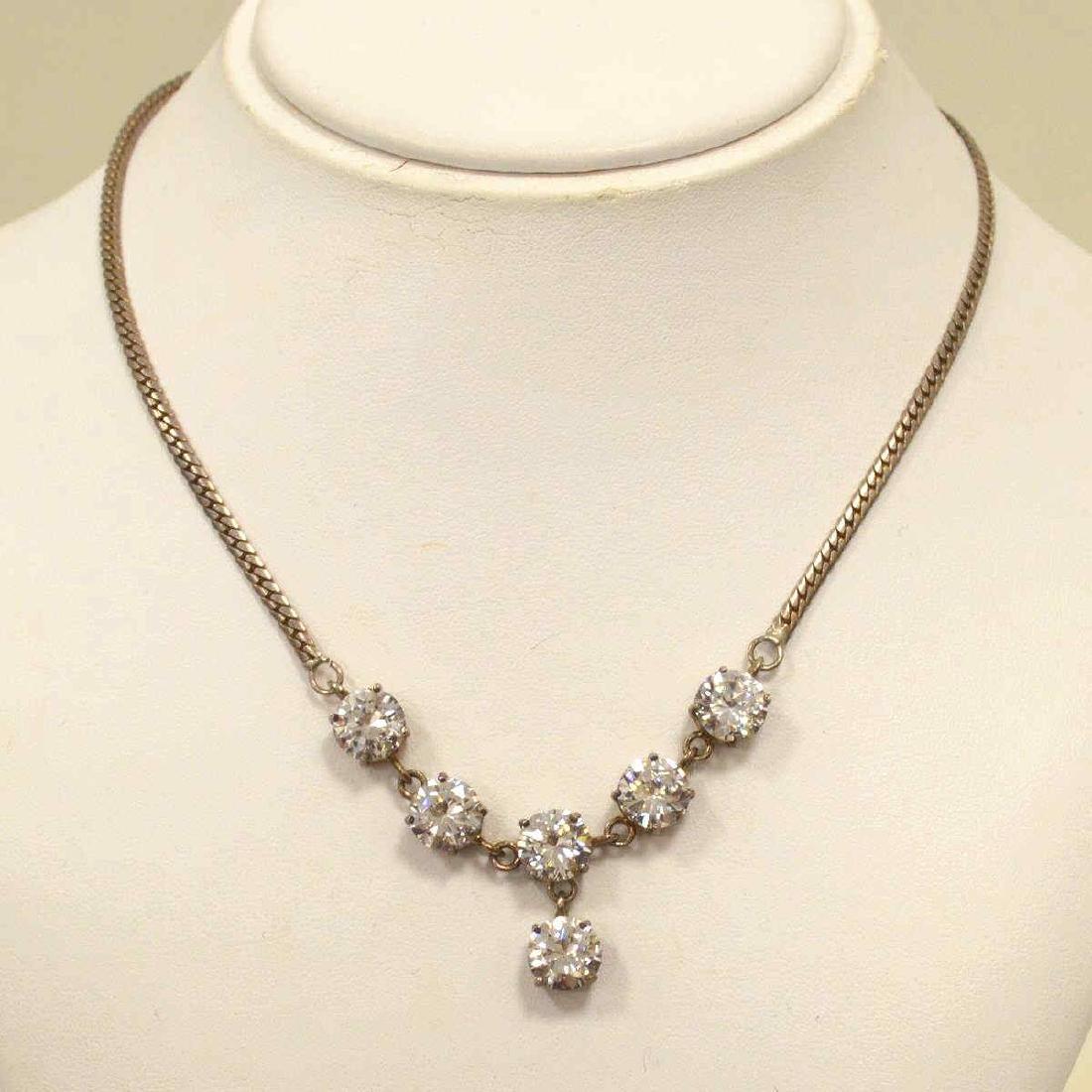 Sterling Silver CZ necklace.