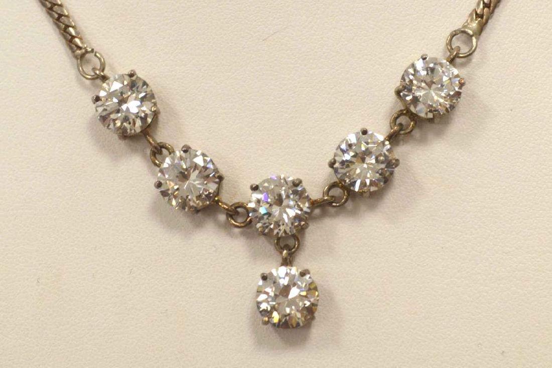 Sterling Silver CZ necklace. - 2