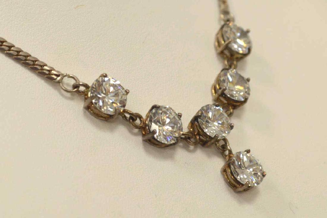 Sterling Silver CZ necklace. - 3
