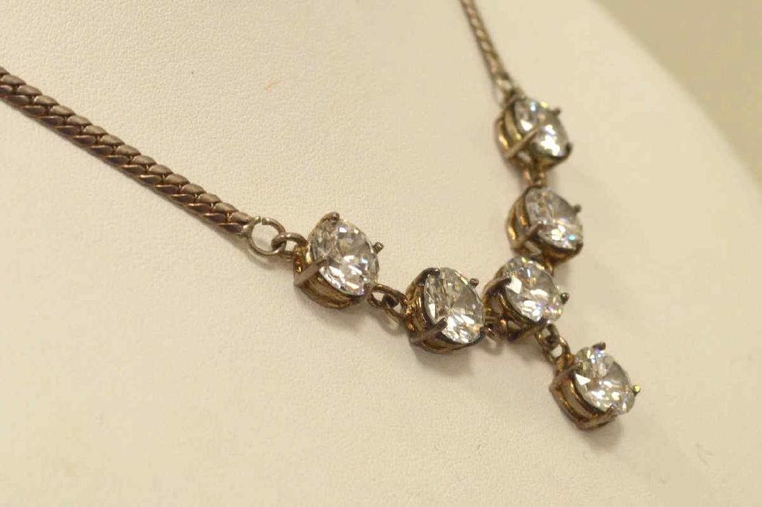 Sterling Silver CZ necklace. - 4