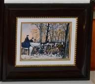 Pierre Bonnet Enamel Over Copper George Washington