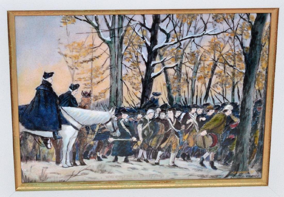 Pierre Bonnet Enamel Over Copper George Washington - 2
