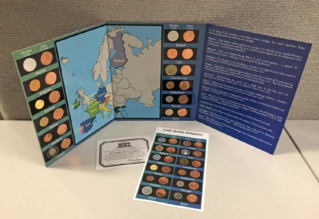 EURO Coin Collection in Educational Folder