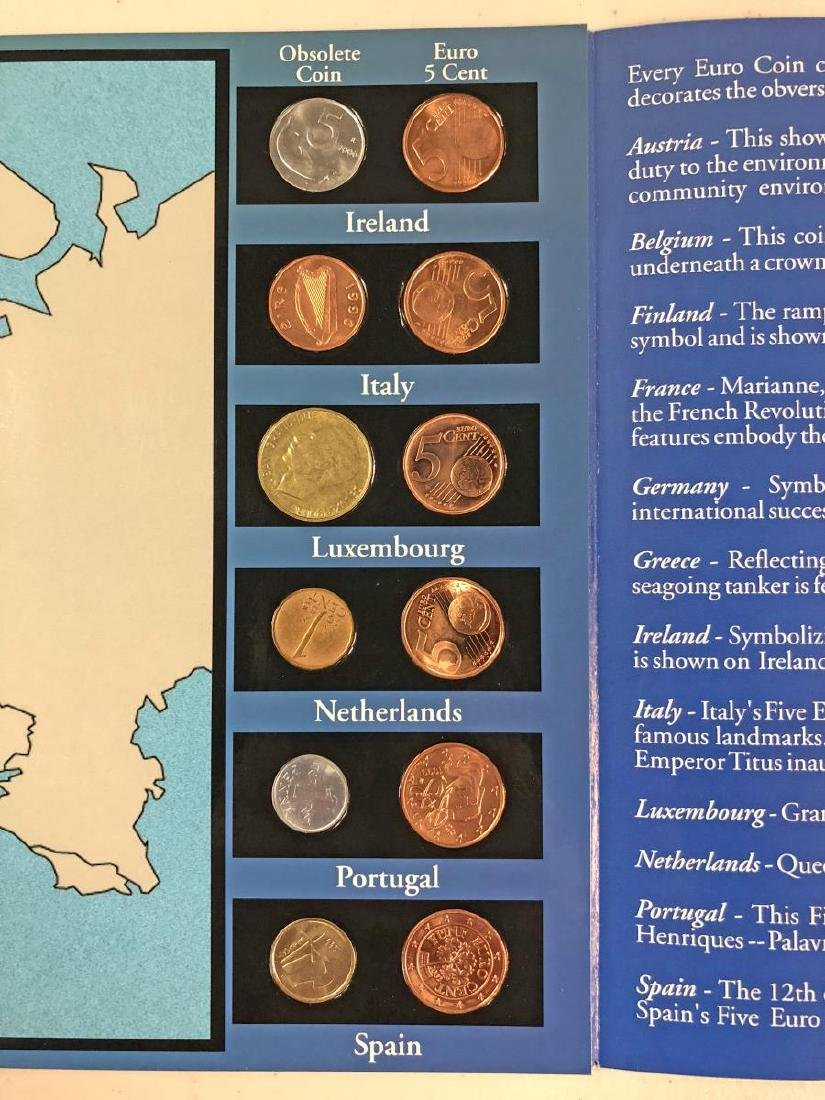 EURO Coin Collection in Educational Folder - 4
