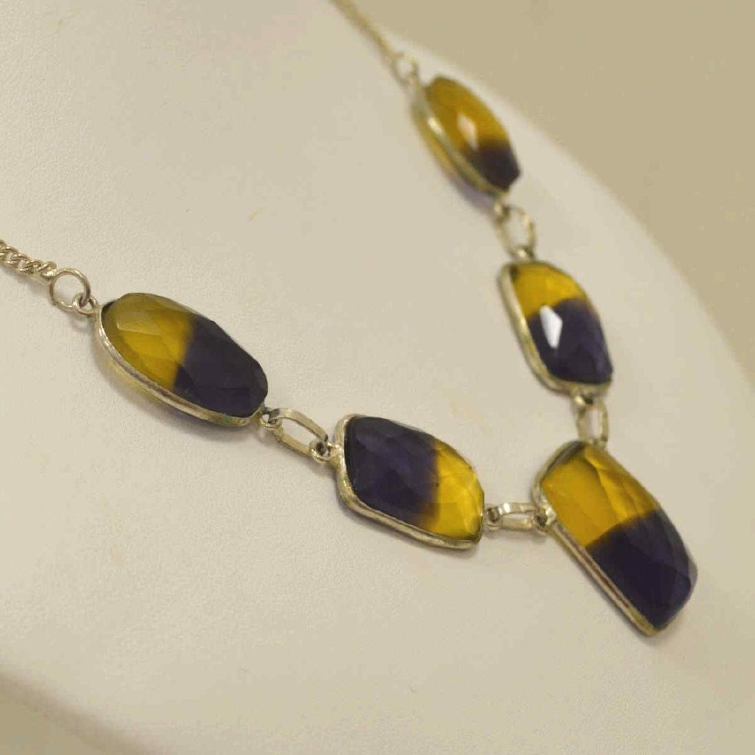 Sterling Silver Ametrine necklace - 4