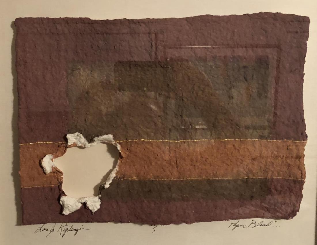 PAPER BLEND by Lori Kiplinger Original Mixed Media - 2