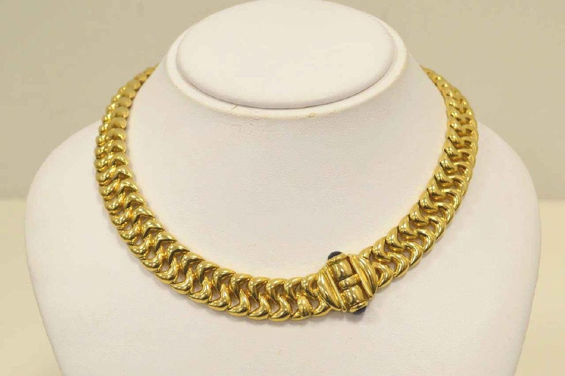 18kt yellow gold collar necklace