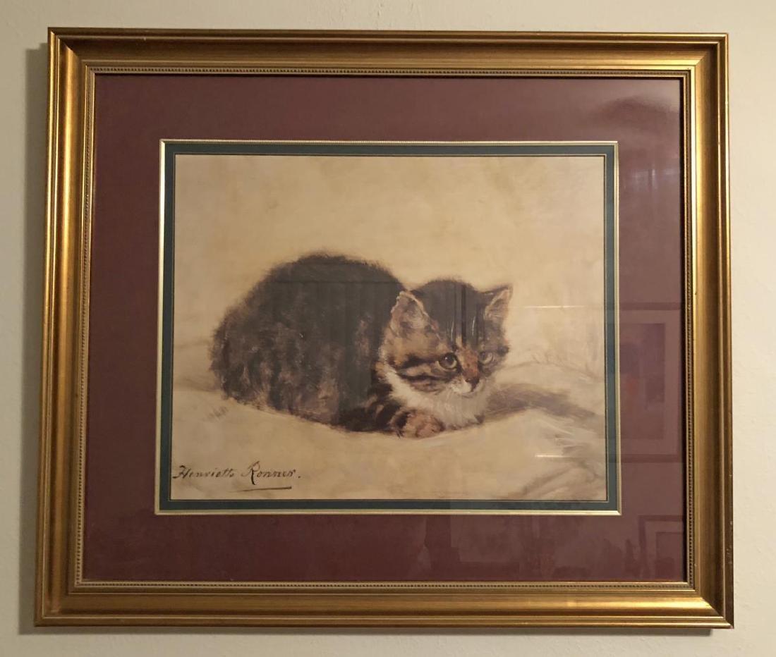 Framed Romantic Style Kitten Litho Print by Ronner