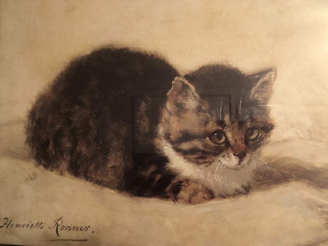 Framed Romantic Style Kitten Litho Print by Ronner - 2