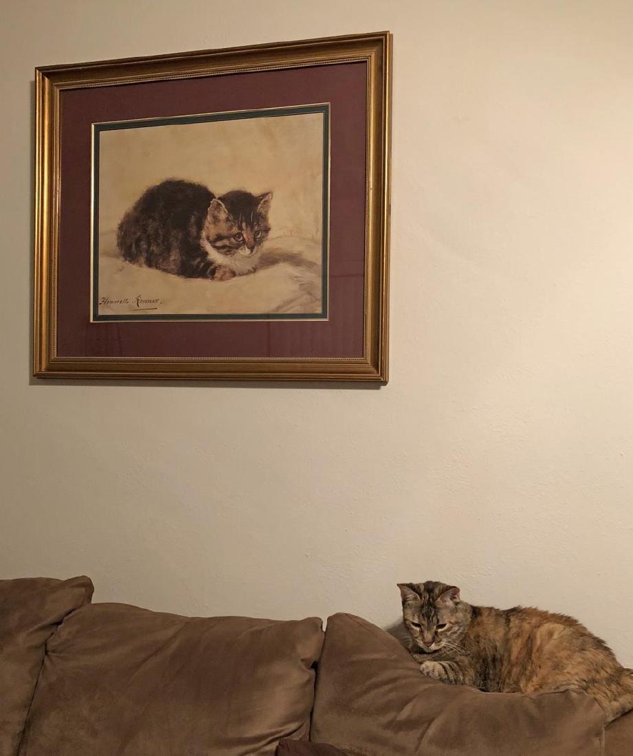 Framed Romantic Style Kitten Litho Print by Ronner - 4