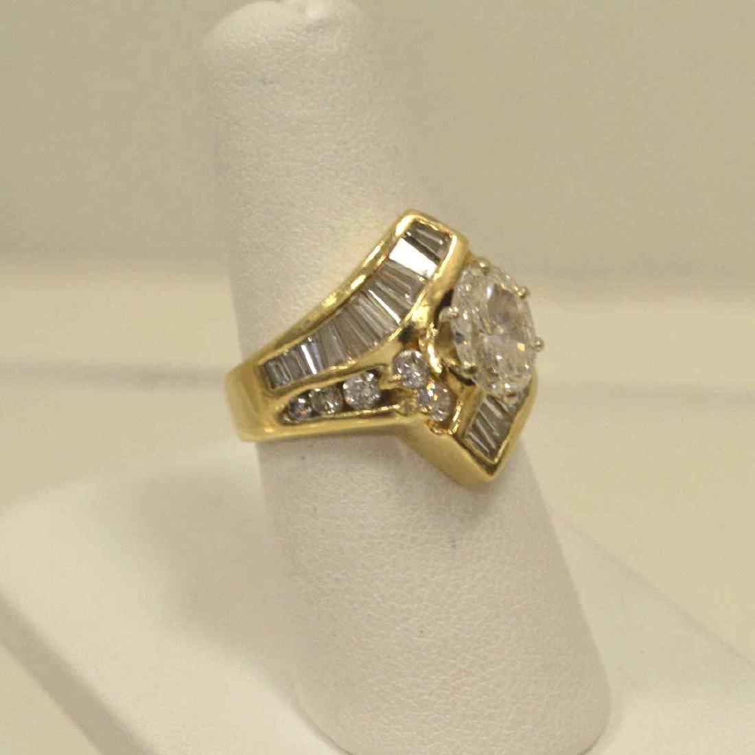 14kt yellow gold diamond engagement ring - 2