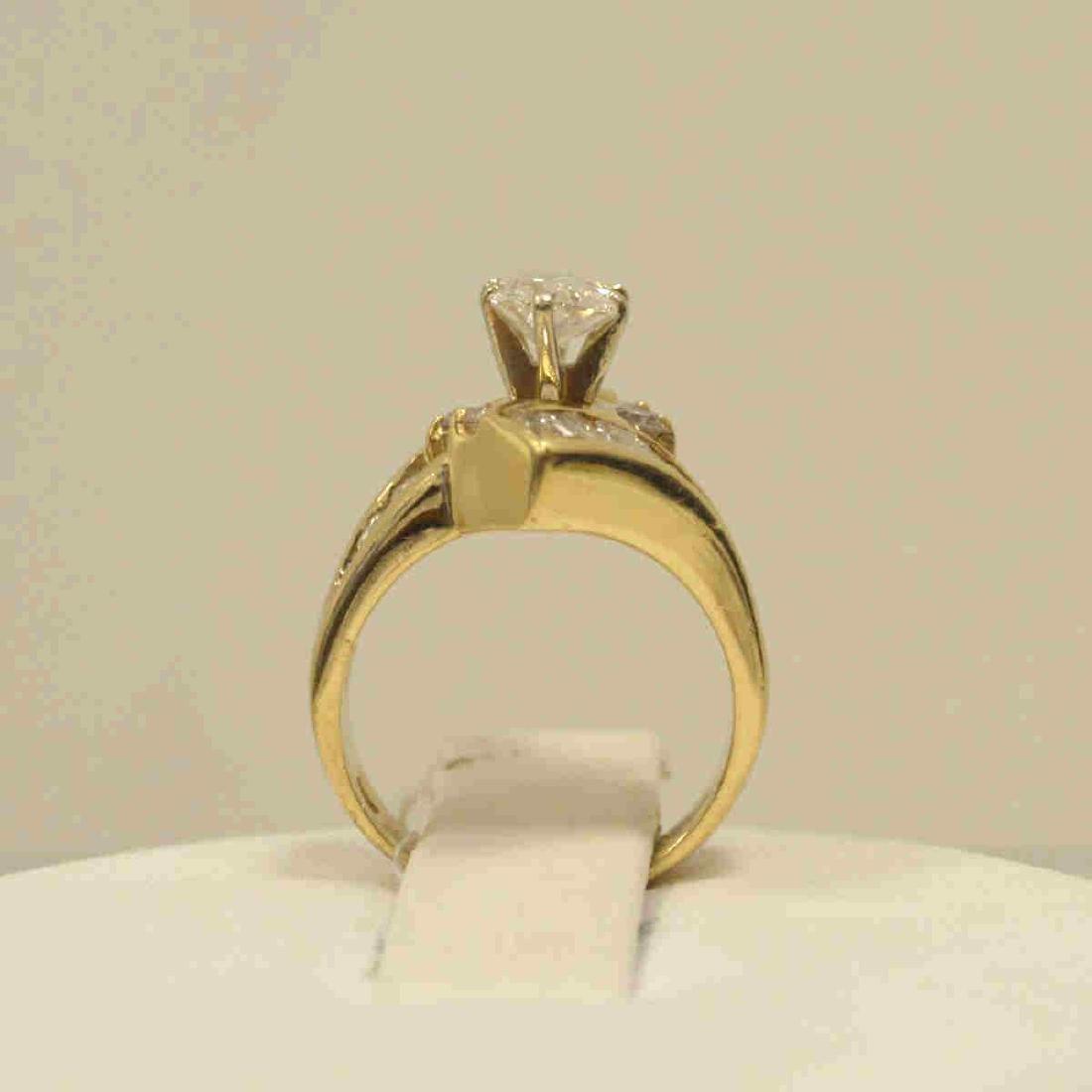 14kt yellow gold diamond engagement ring - 3