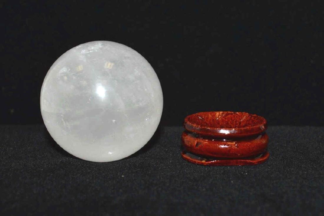 480 ct. White Quartz Sphere - 3