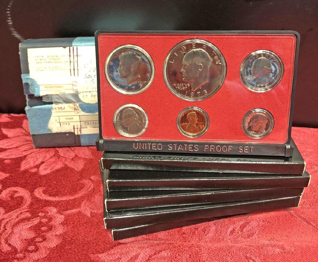 1973 US Proof Set Original Box of 5