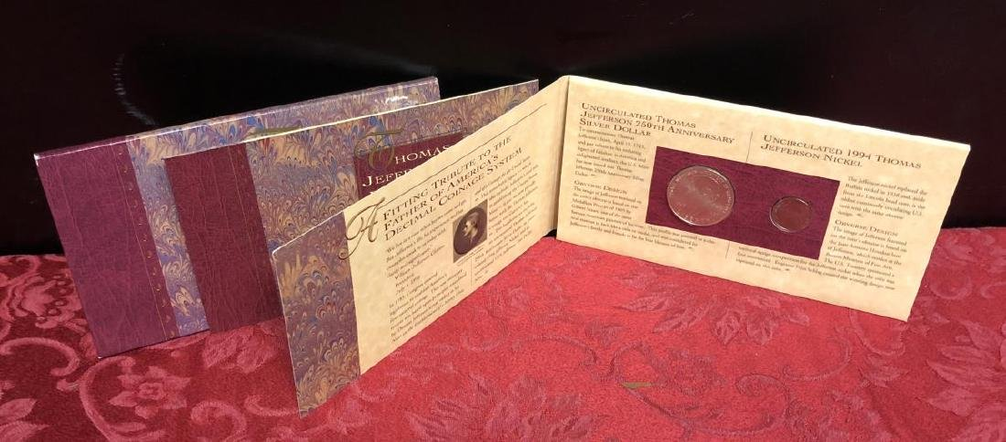 1994 Thomas Jefferson Coinage & Currency Set
