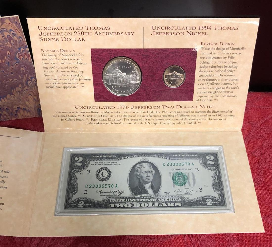 1994 Thomas Jefferson Coinage & Currency Set - 3