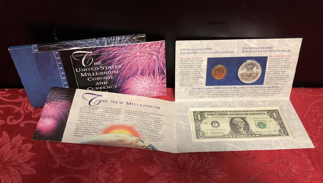 2000 US Millennium Coinage & Currency Set