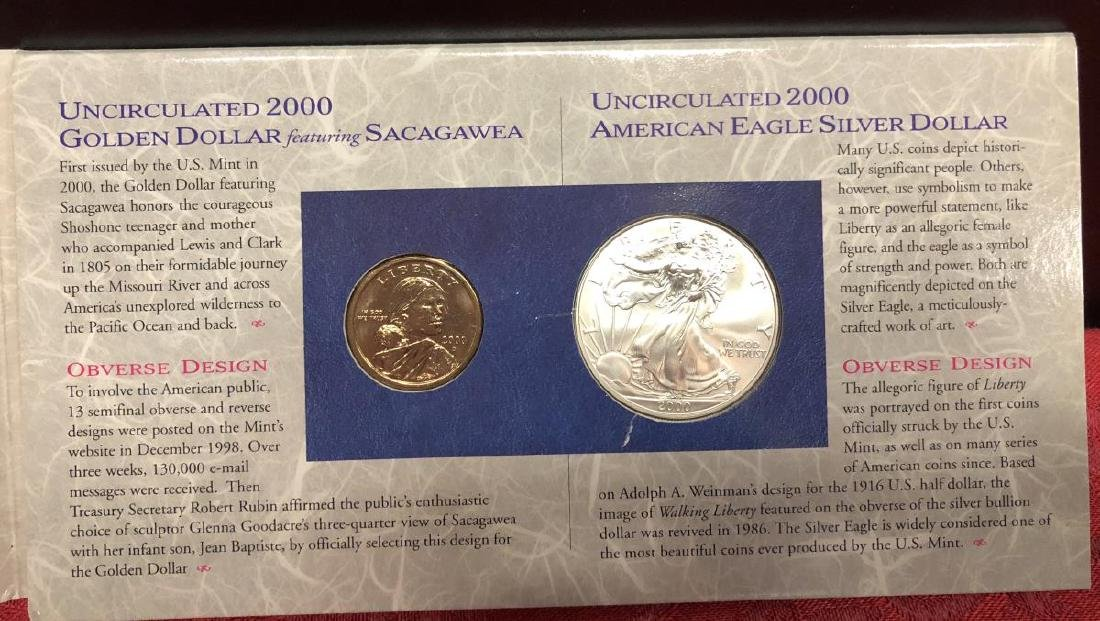 2000 US Millennium Coinage & Currency Set - 2