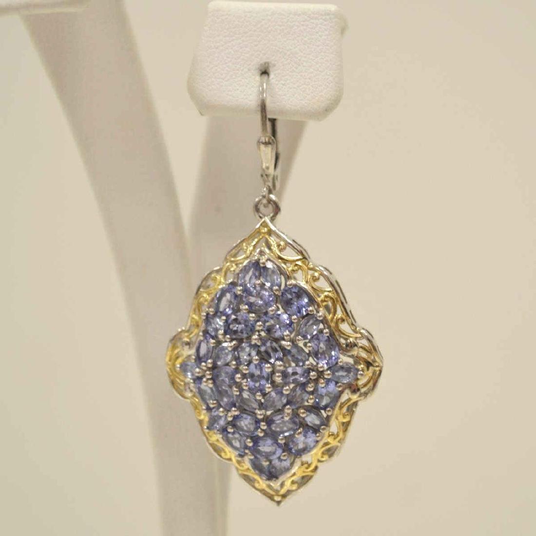 Sterling Silver tanzanite earrings - 2