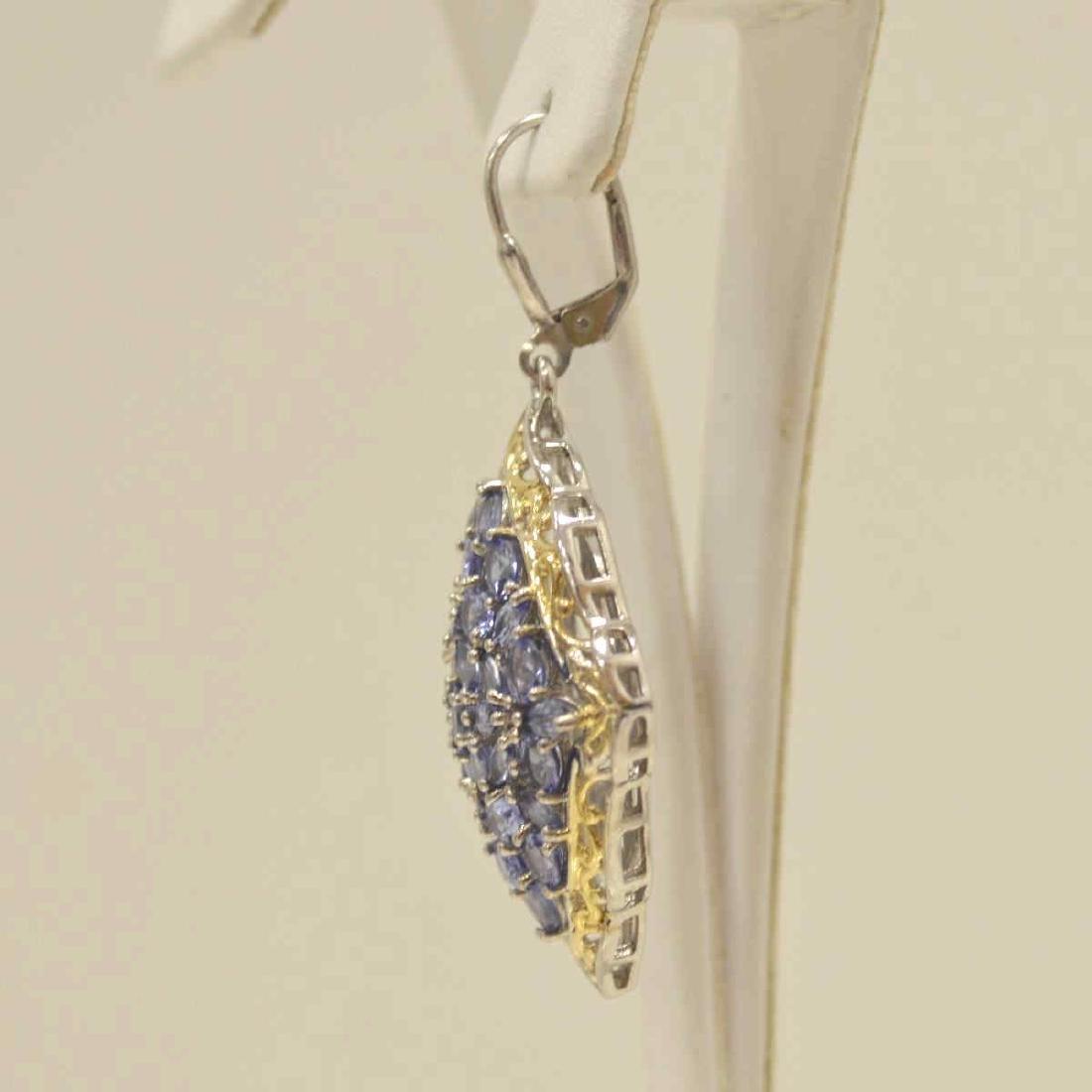 Sterling Silver tanzanite earrings - 3