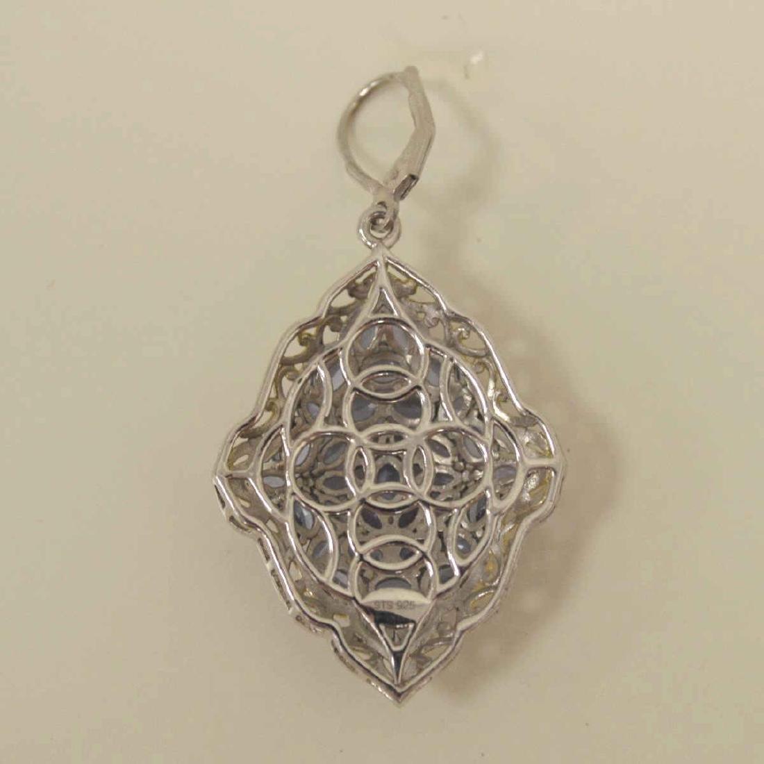 Sterling Silver tanzanite earrings - 4