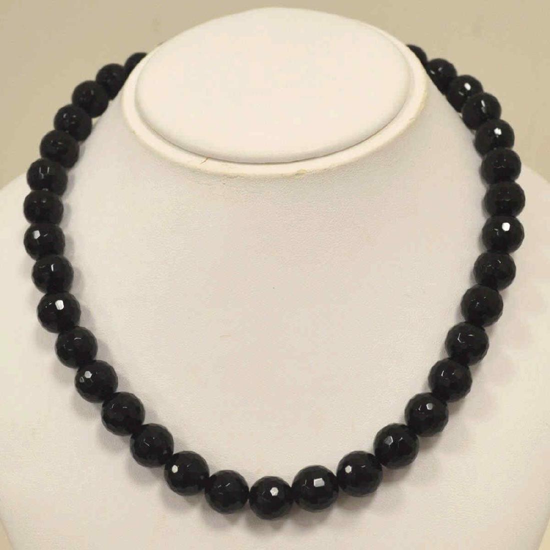 """18"""" Onyx Bead Necklace"""