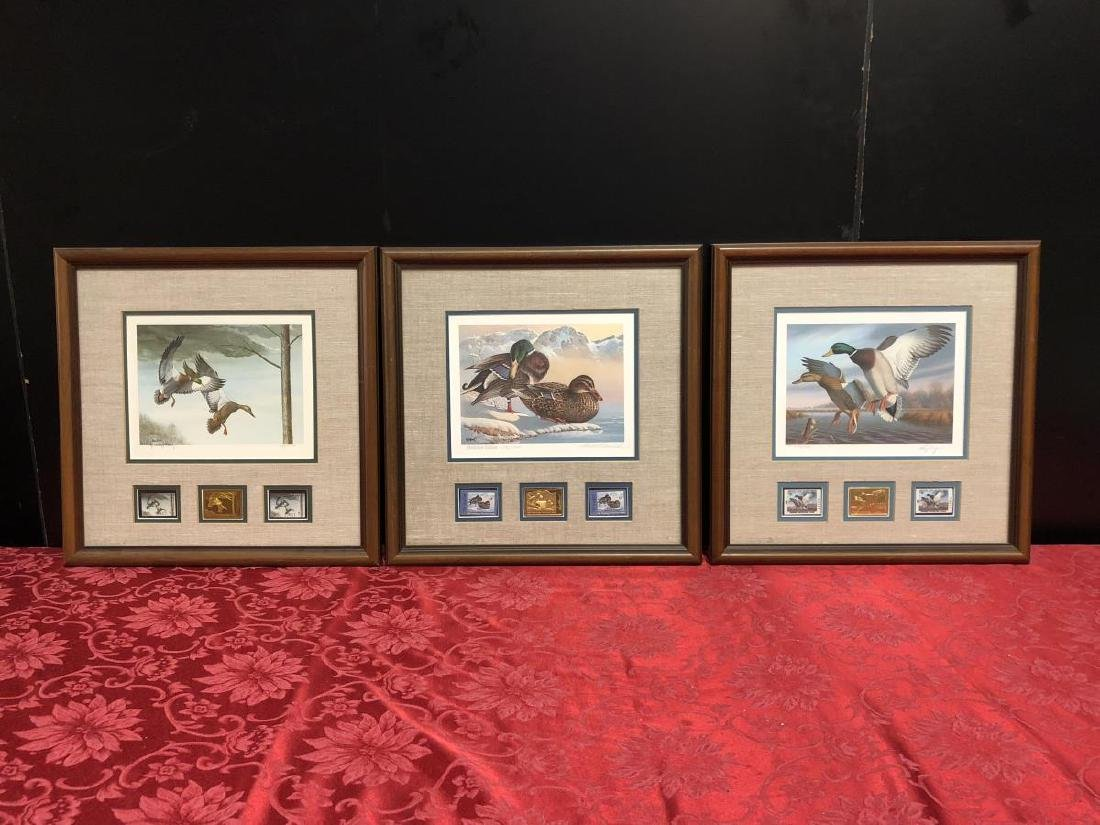 Lot of 3 Duck Stamp Prints 1985 1986 1988