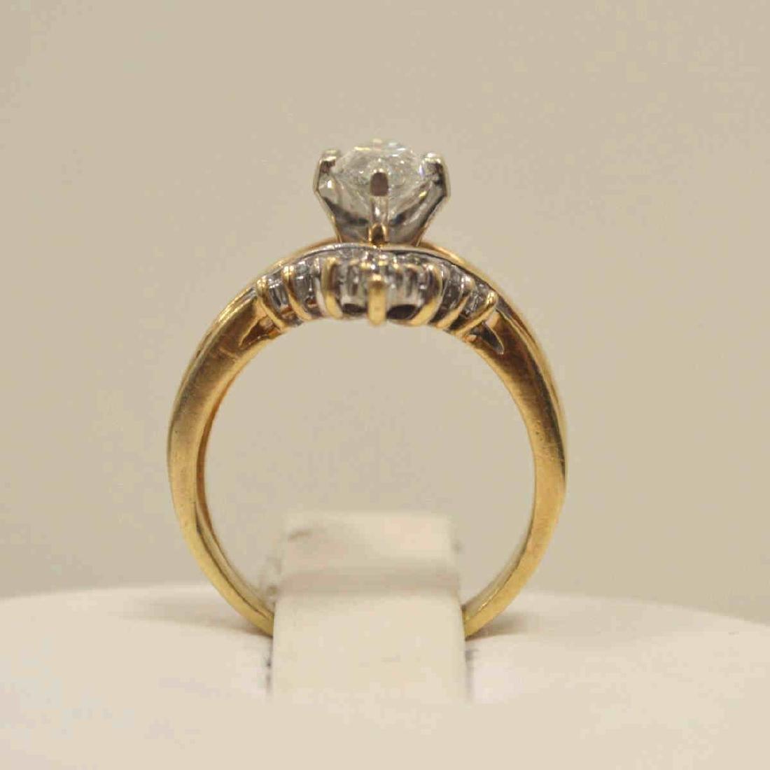 14kt yellow gold marquise diamond wedding set - 3