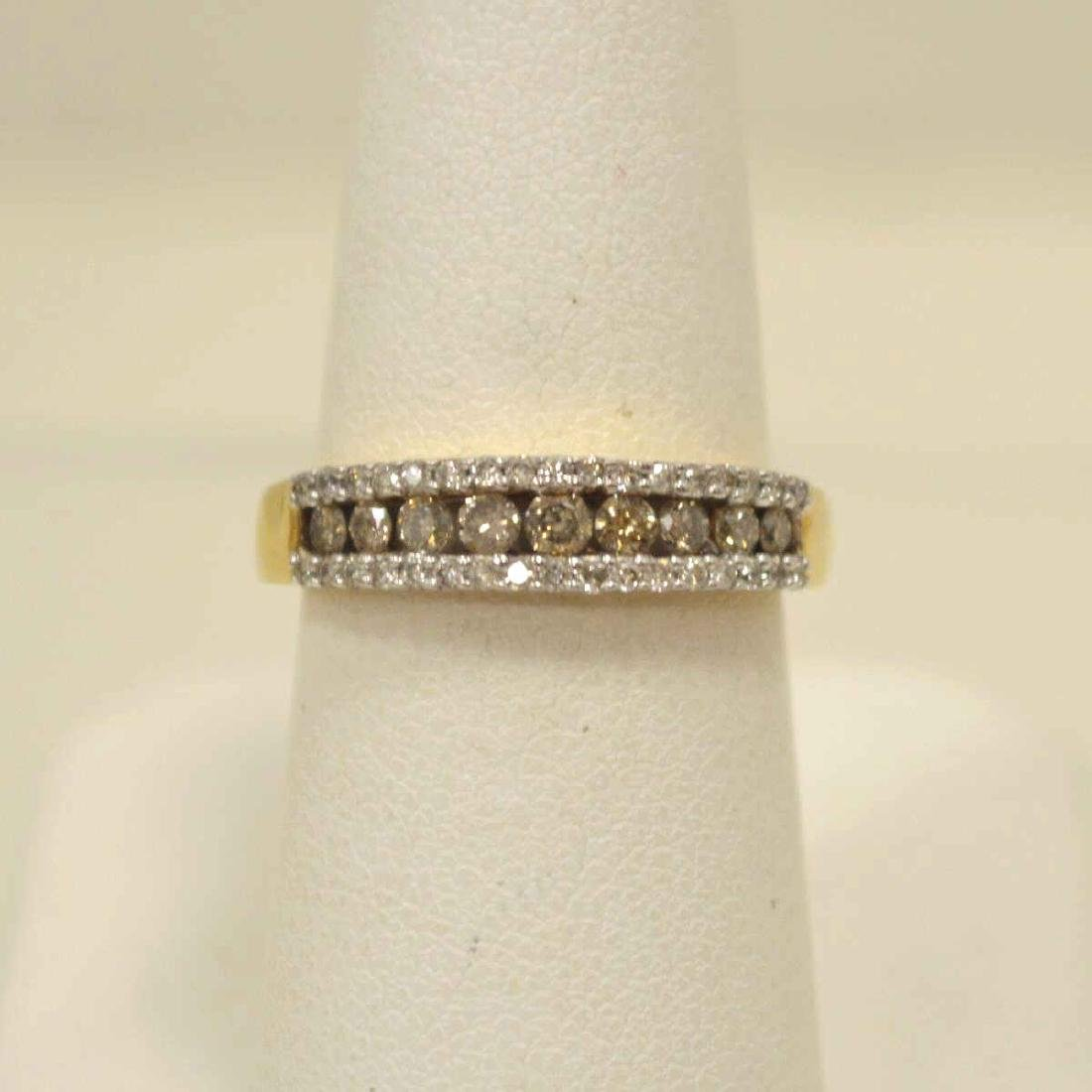 10kt yellow gold diamond fashion band