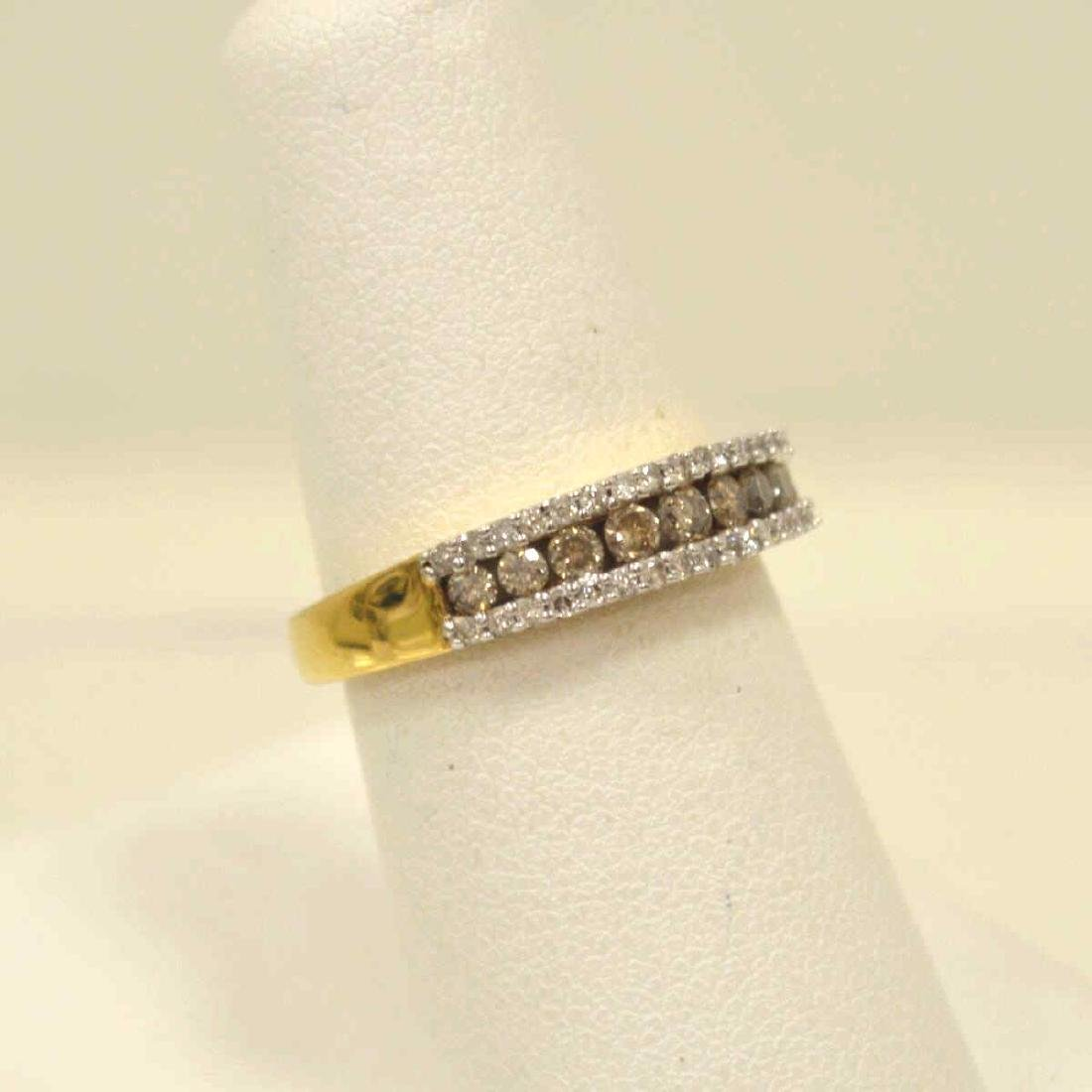 10kt yellow gold diamond fashion band - 2