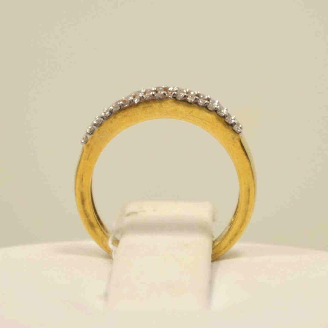 10kt yellow gold diamond fashion band - 3