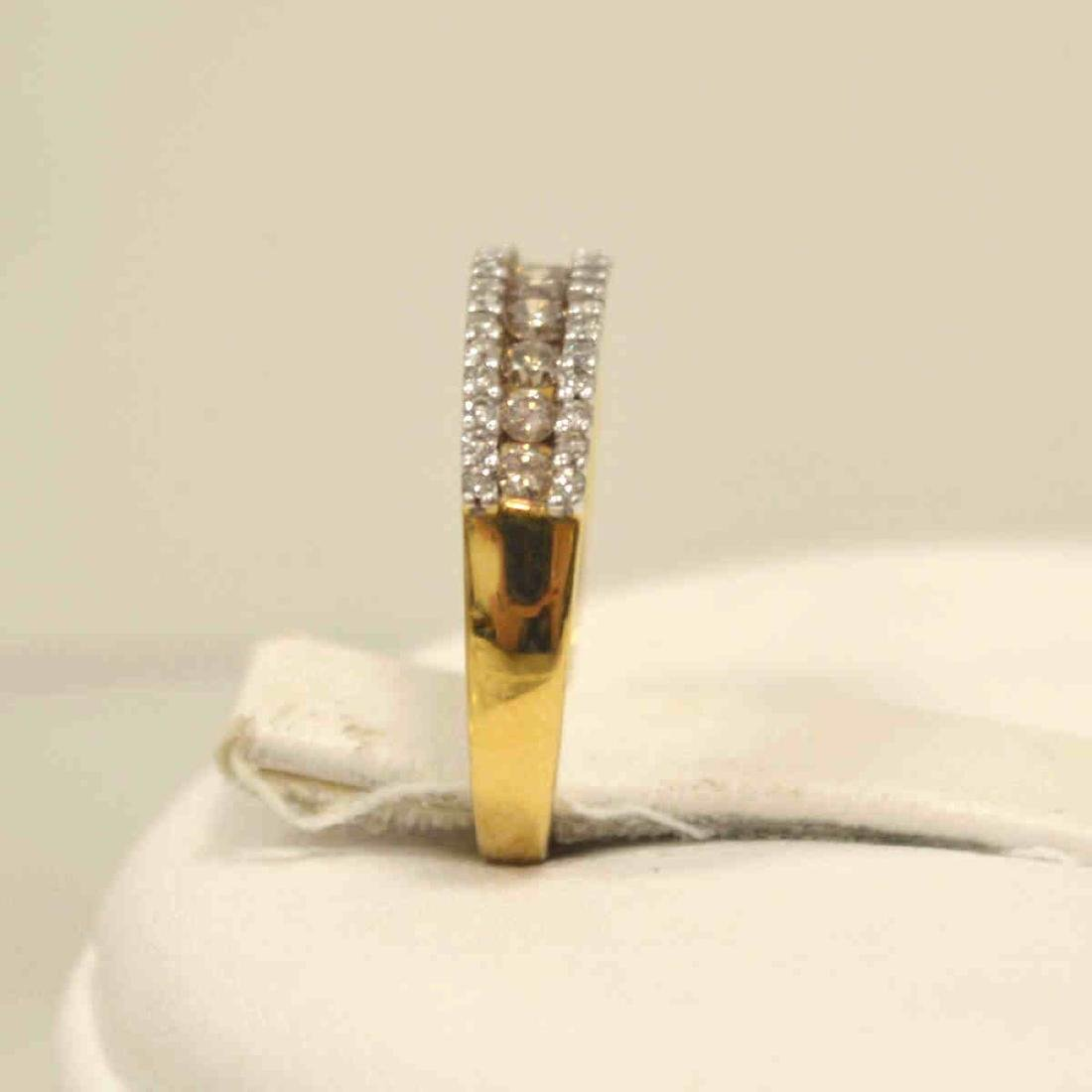 10kt yellow gold diamond fashion band - 4