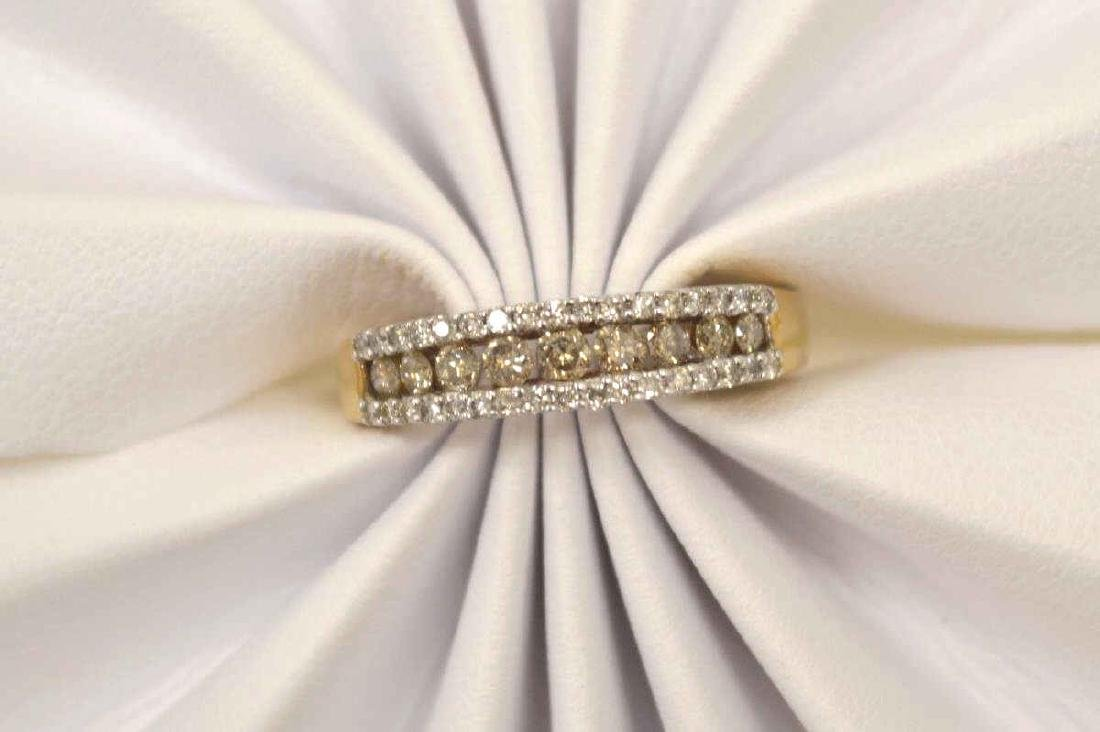10kt yellow gold diamond fashion band - 5