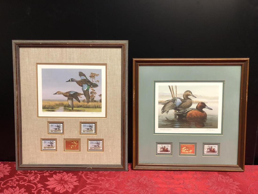Pair of Framed Duck Stamp Prints 1987 1989